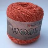 Hjertegarn Wool silk f3017 bränd orange